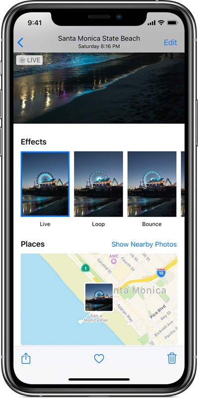 Ios13 iphone11 pro photos live photo effects