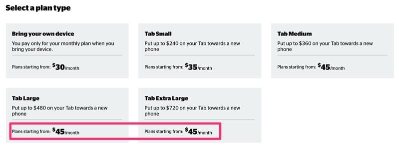Koodo tab large extra large