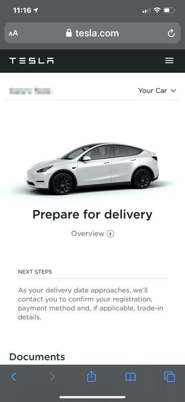 Model y canada prepare delivery