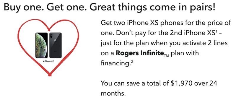 Rogers bogo iphone xs