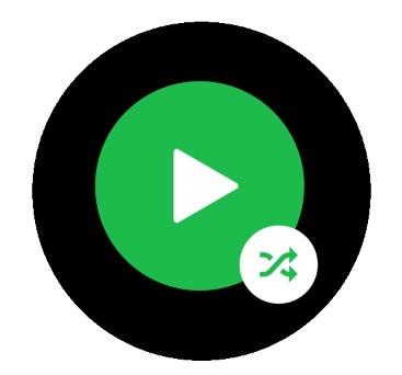 Spotify play shuffle button