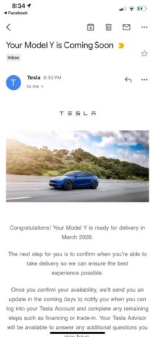 First Tesla Model Y Delivery Confirmation Emails Sent Out to U.S. Customers