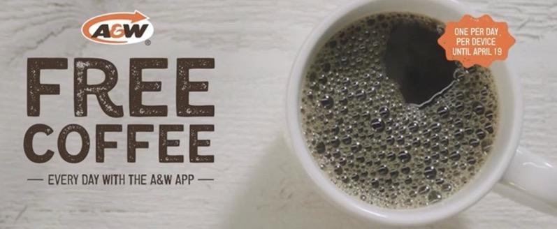 A W free coffee