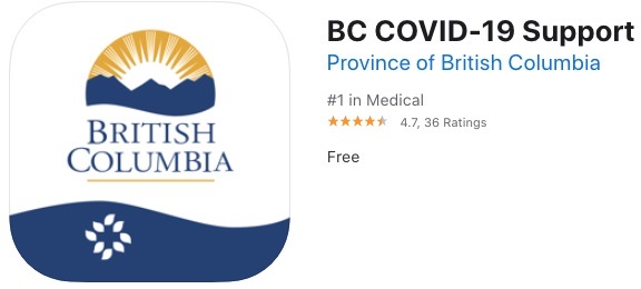 BC COVID 19 support app