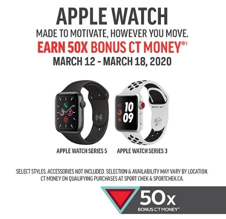 Apple watch 50x bonus