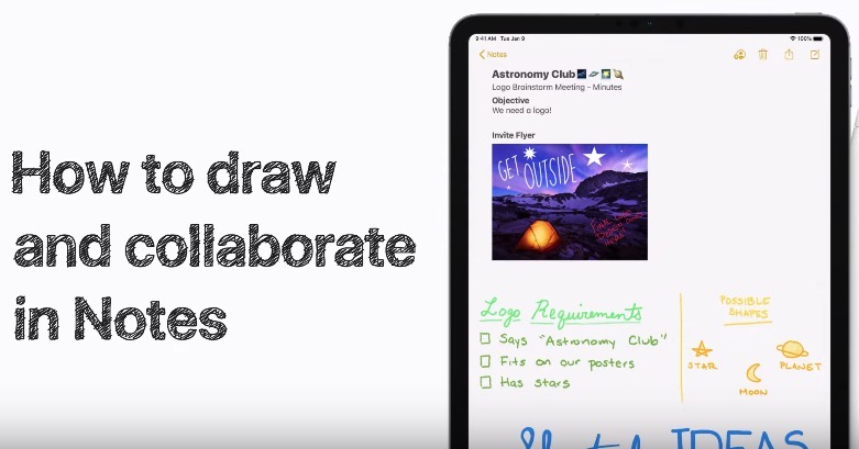 Draw collaborate notes