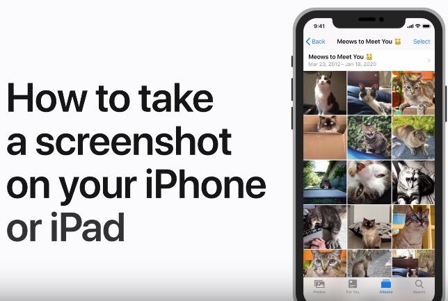 How to take screenshot iphone ipad