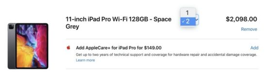 Apple Limiting Purchase Quantities on New iPad Pro, MacBook Air and More in Canada
