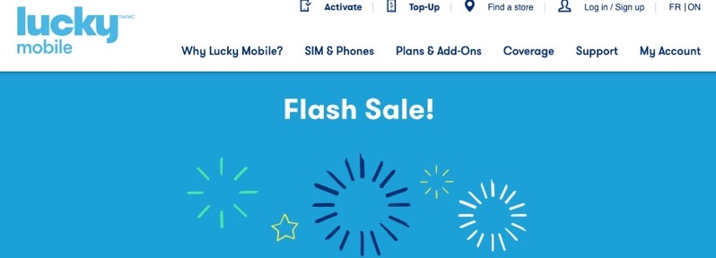 Lucky mobile flash sale 2