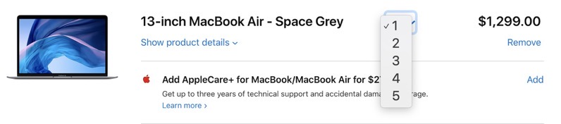 Macbook air limit 2