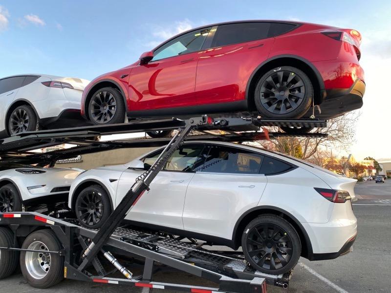 Model y truckloads