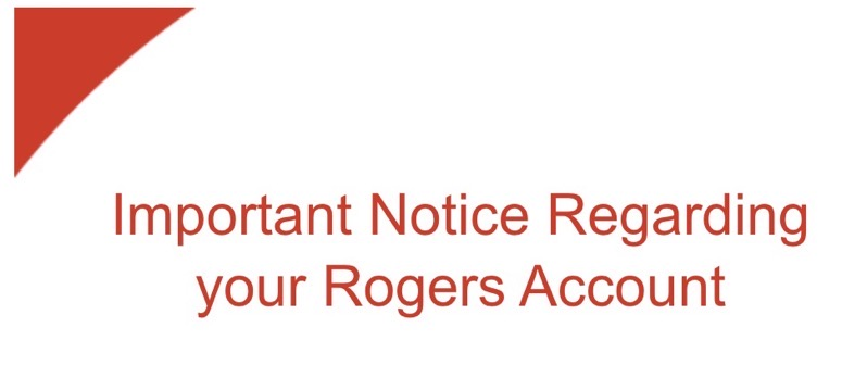 Rogers account notice