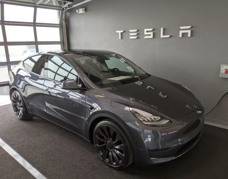 Tesla model y showroom