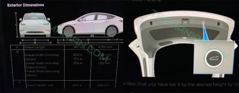 Tesla model y dimensions