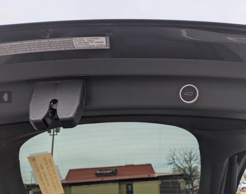 Tesla model y trunk buttons