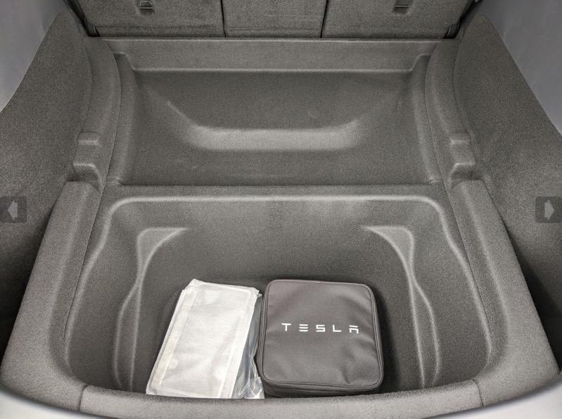 Tesla model y trunk underneath