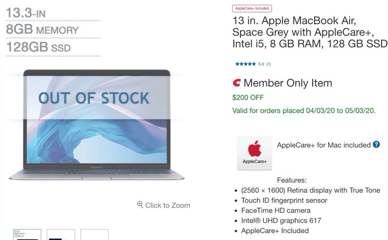 13 inch macbook air costco
