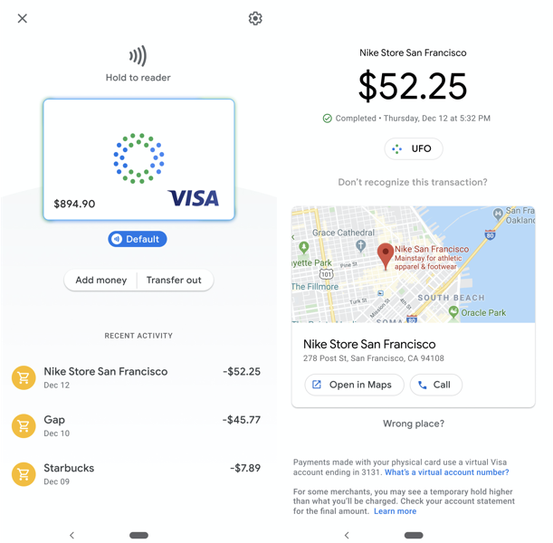 Google Pay Debit Card
