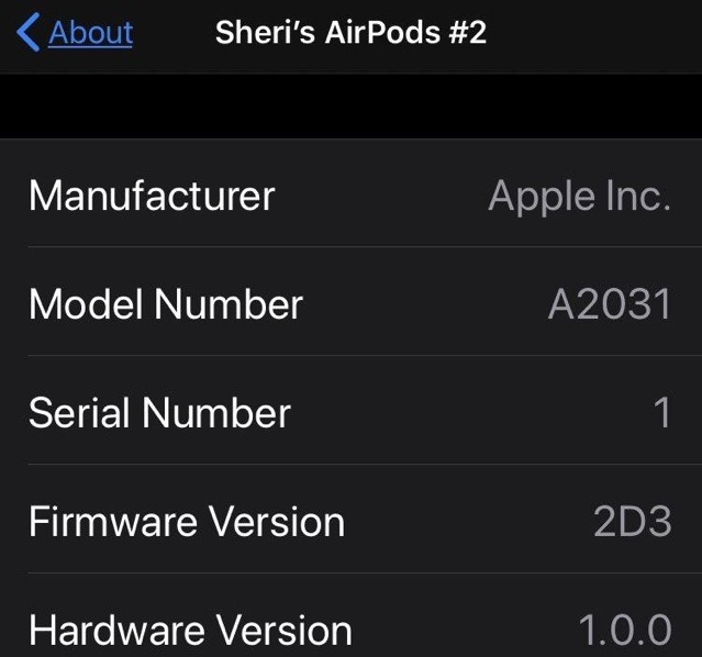 Airpods 2d3 firmware
