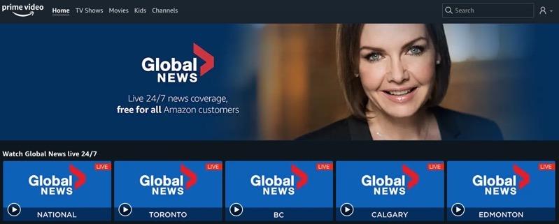Global news channels