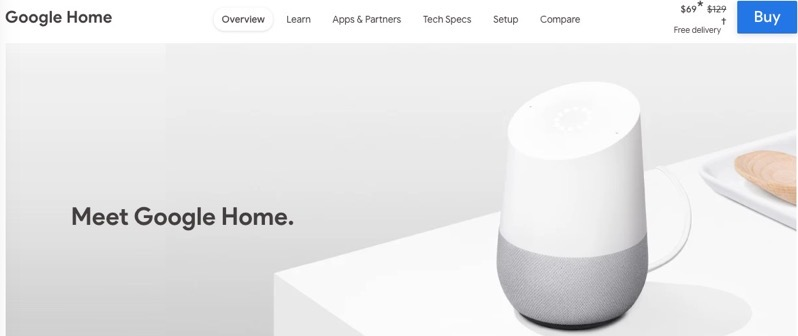 Google home speaker sale