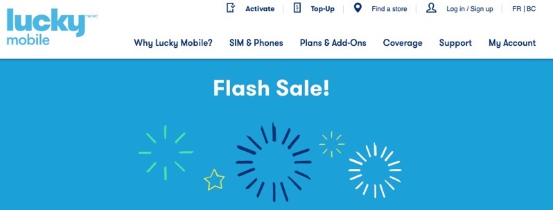 Lucky mobile flash sale april 2020