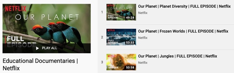 Netflix youtube documentaries free