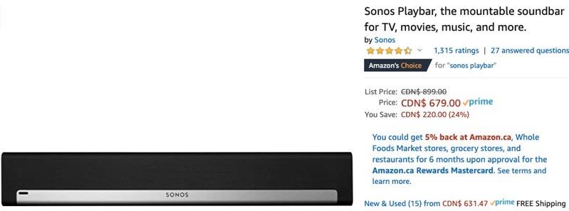 Sonos playbar amazon