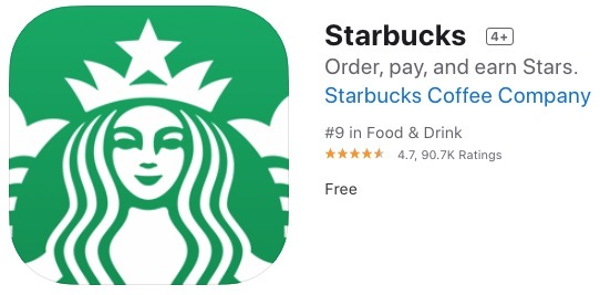 Starbucks ios app