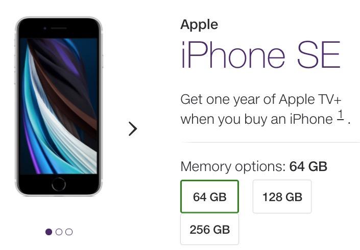 Telus 2020 iphone SE