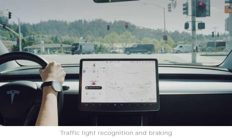 Tesla traffic light