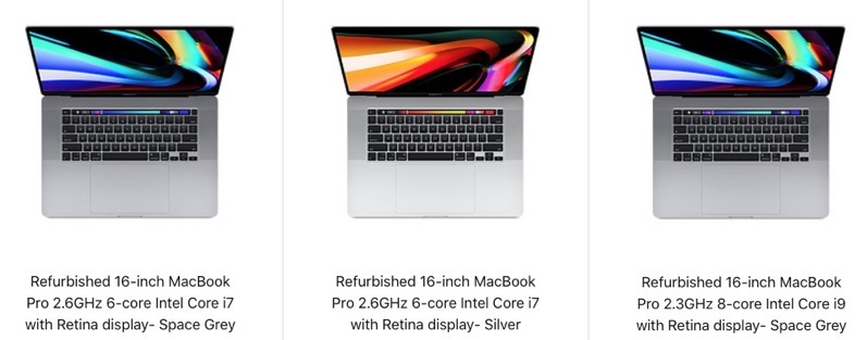 16 inch macbook pro apple refurb
