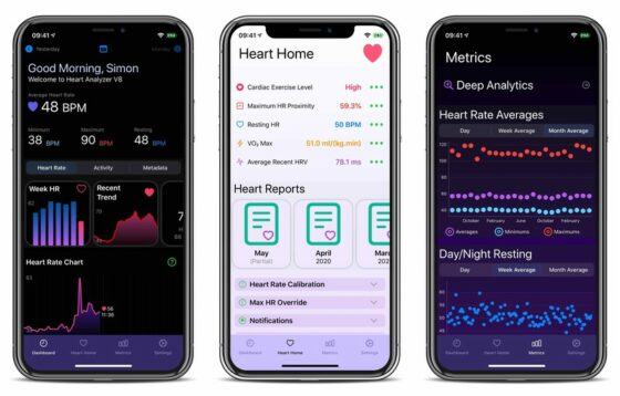 Heart Analyzer App Adds Dark Mode, a New Dashboard, and More via Update