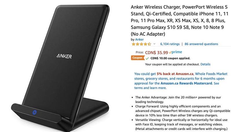 Anker wireless charger deal