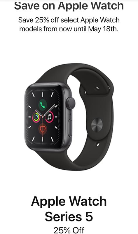 Apple watch rbc 25 off