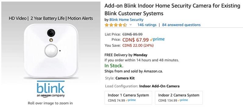 Blink camera sale
