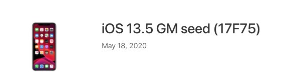 Ios 13 5 gm seed download