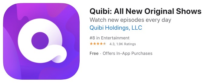Quibi apple tv airplay