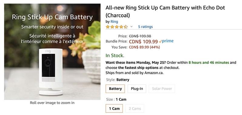 Ring stick up cam amazon