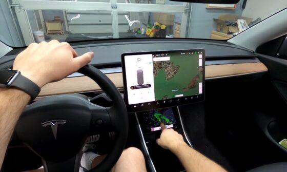 tConsole Adds Hidden iPad mini to Tesla Model 3 or Model Y [VIDEO]