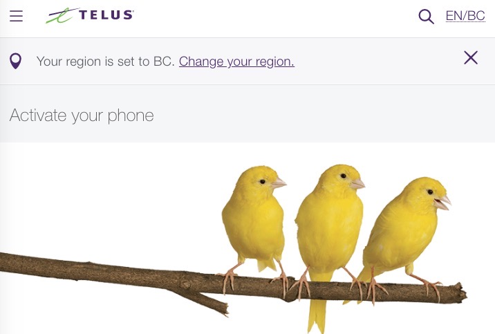 Telus activation