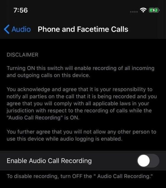 Rumoured iOS 14 Call Recording Feature Likely for Internal Debugging Only