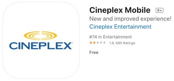 Cineplex mobile iphone
