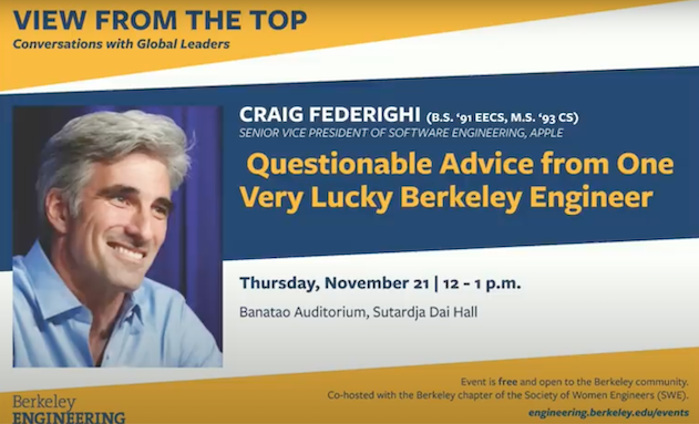 Watch Apple S Craig Federighi Give Life Advice At Uc Berkeley Video Iphone In Canada Blog
