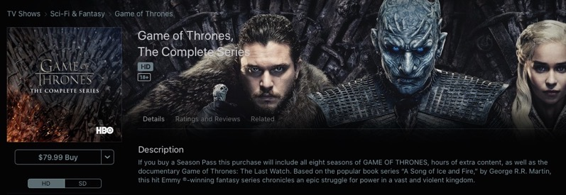 Game of thrones 79 99