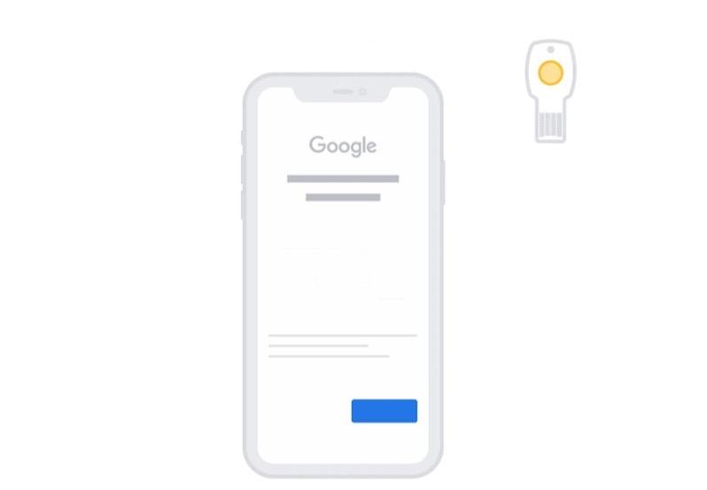 Google security keys ios 13 3