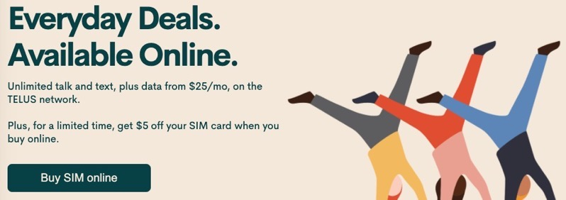 Public mobile sim card sale
