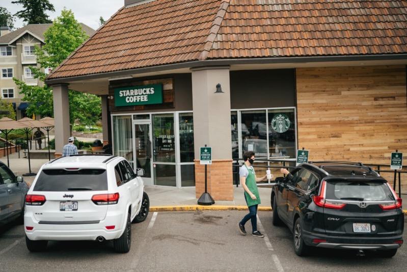 Starbucks curbside pickup bainbridge