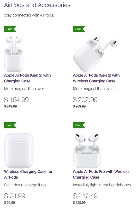 Apple Airpods Airpods Pro And More On Sale For 25 Off At Telus