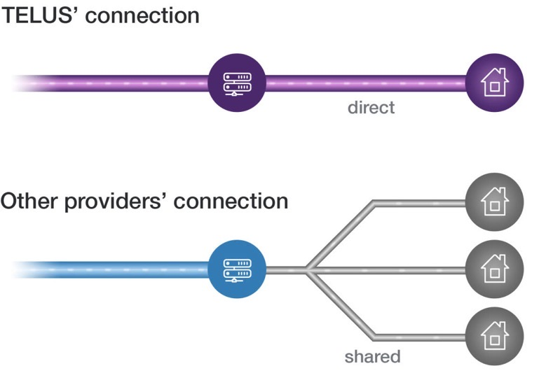 Telus fibre connection